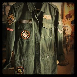 Willow and Clay Military Jacket